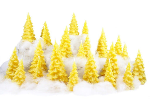 Beeswax Christmas Tree Candles - Candlestock.com
