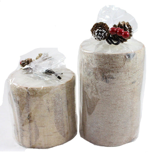Frosted Birch Wood Candle - Candlestock.com
