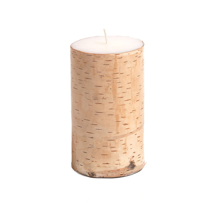 Scented Birchwood Pillar Candle