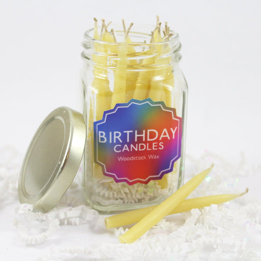Beeswax Birthday Candle Jar - 20 Candles - Candlestock.com