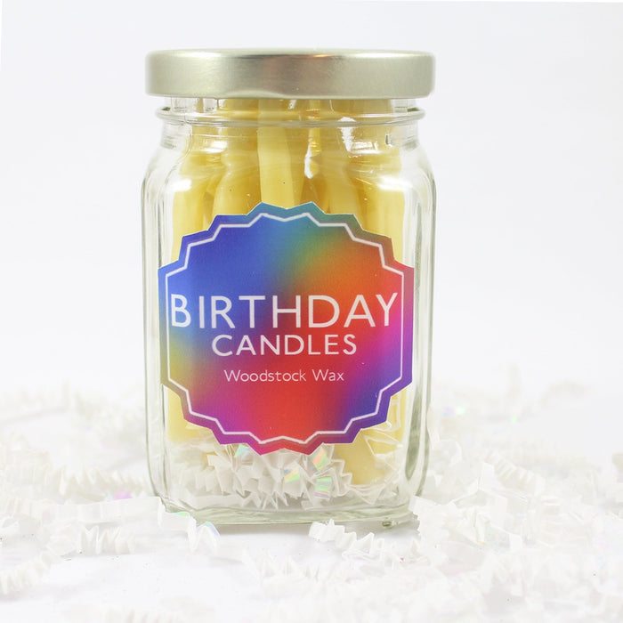 Beeswax Birthday Candle Jar