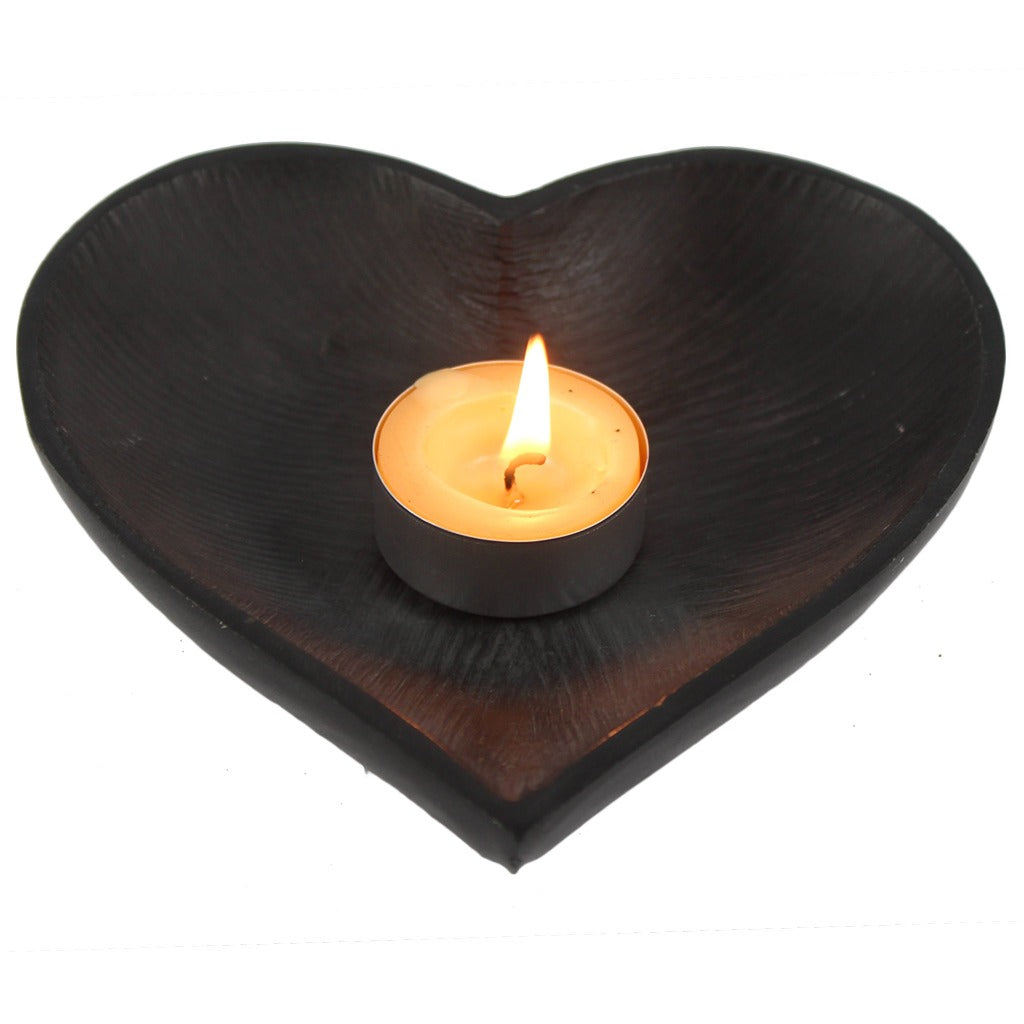 Black Soapstone Heart Bowl  sc 1 st  Candlestock & Decorative Candle Trays - Candle Plates u2013 Candlestock