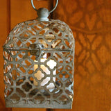 Antique Turquoise Metal Lantern Tea Light Candle Holder - Candlestock.com