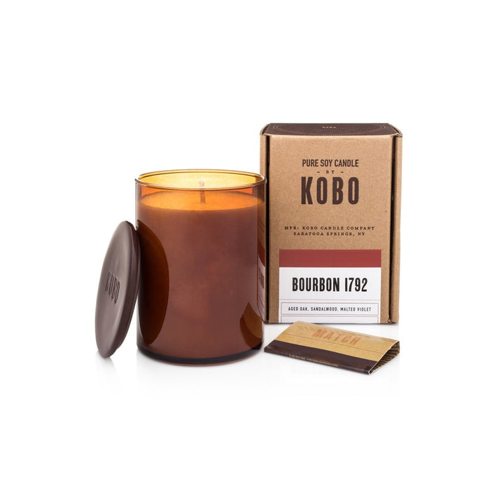 Woodblock Scented Candle - Bourbon Scented Candle - Candlestock.com