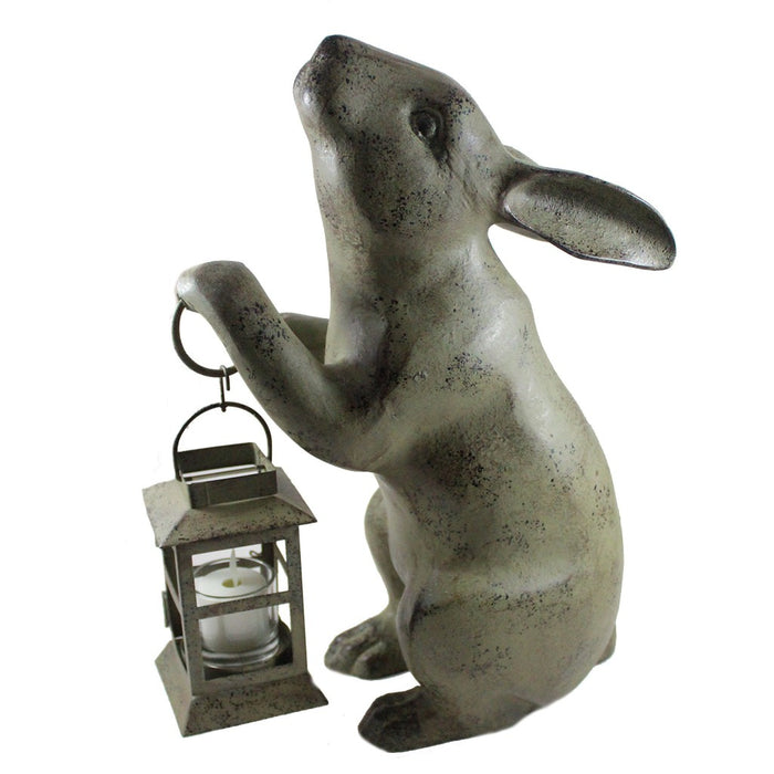 Rabbit With Tea Light Candle Lantern - Candlestock.com