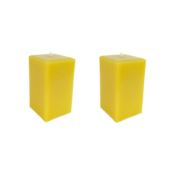Beeswax Square Pillar Candle Sets