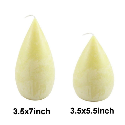 Beeswax Round Teardrop Pillar Candle Sets