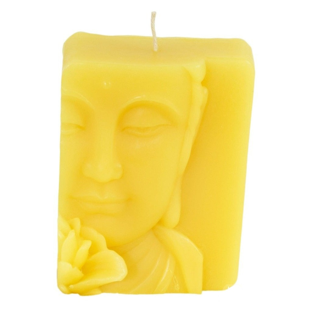 Beeswax Buddha Relief Candle - Candlestock.com