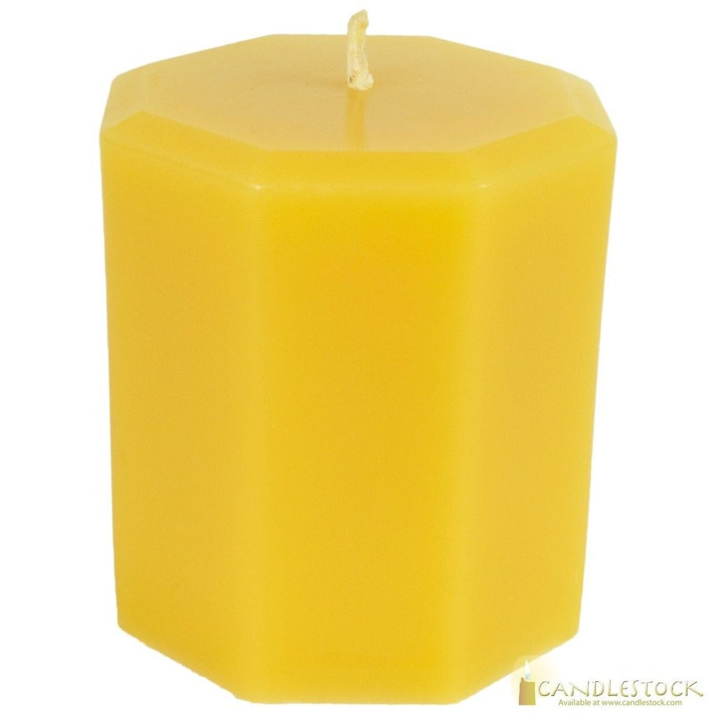 Candlestock Beeswax Octagon Pillar Candle In Multiple Sizes