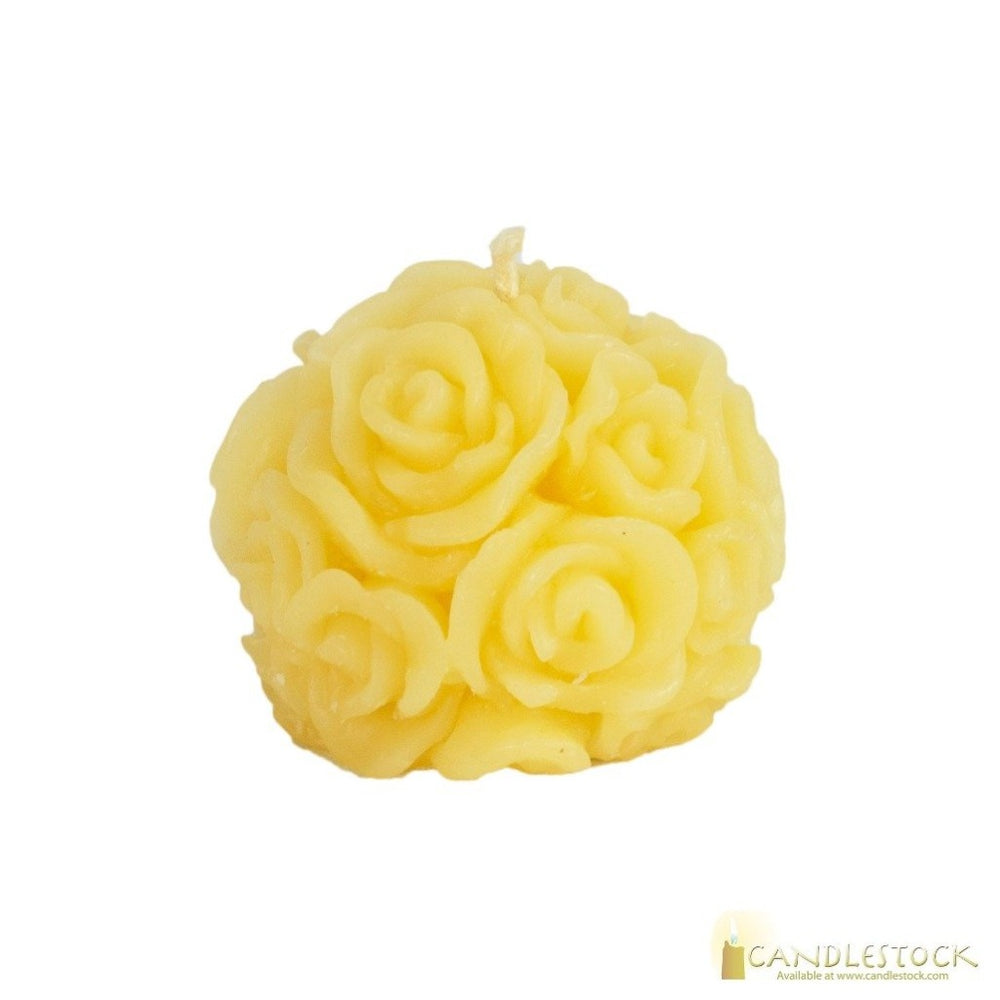 Beeswax Rose Ball Candle - Candlestock.com