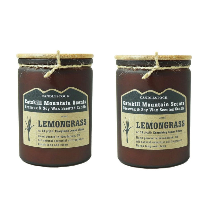 Catskill Mountain Beeswax And Soy Wax Scented Jar Candle Sets