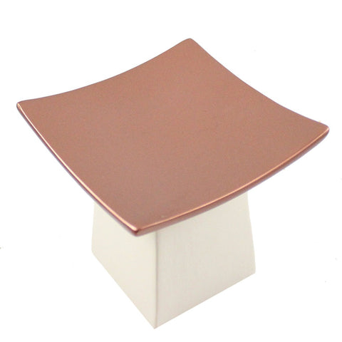 Ceramic And Copper Pillar Candle Tray - Candlestock.com
