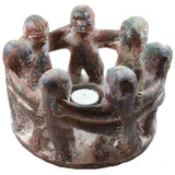 Pottery Circle Of Friends Tea Light Candle Holder - Candlestock.com