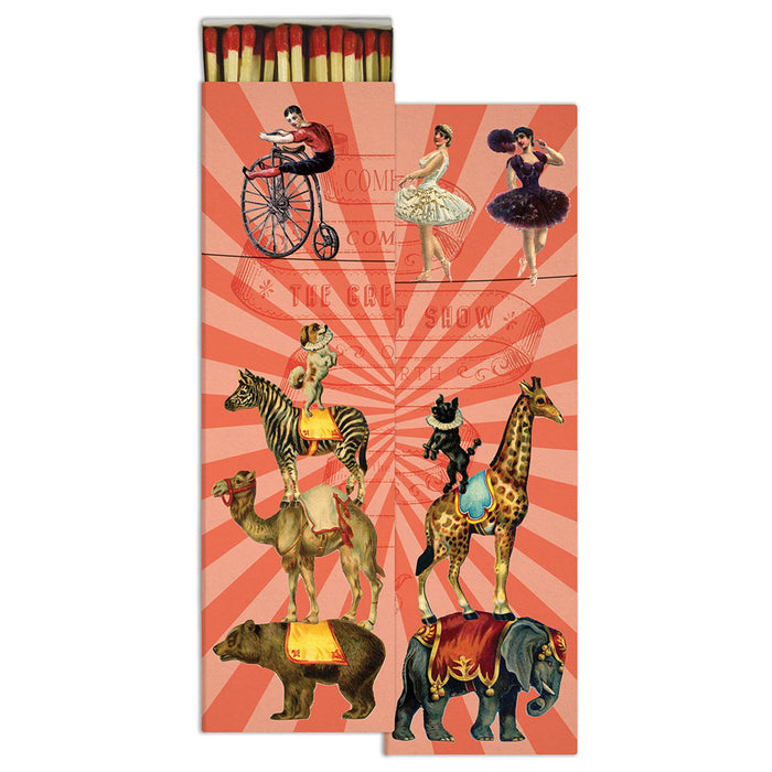 Decorative Match Box - Long Matches - Circus Matches - Candlestock.com