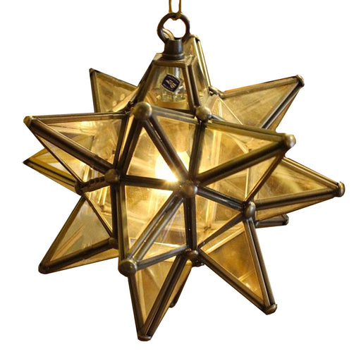 Clear Glass Hanging Star Lamp - Candlestock.com