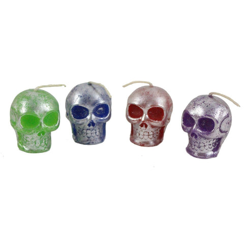 Colored Mini Skull Candle - Candlestock.com