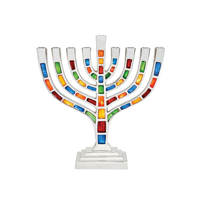 Multi Colored Mosaic Menorah