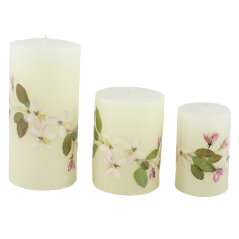 Beeswax Crabapple Nature Pillar Candle - Candlestock.com