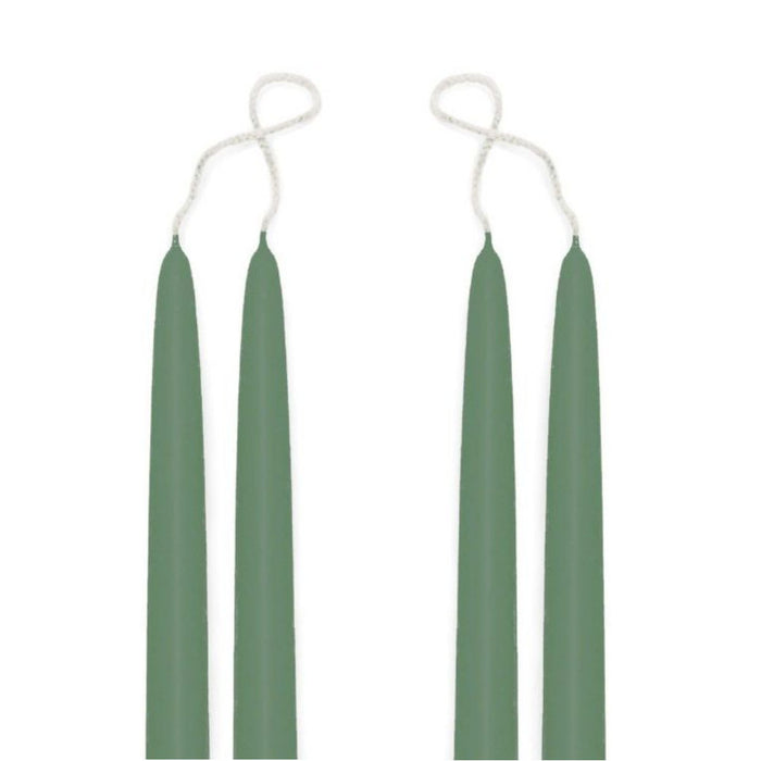 Premium Beeswax Blended Taper Candles - Two Pair Bundle - 12 Inches