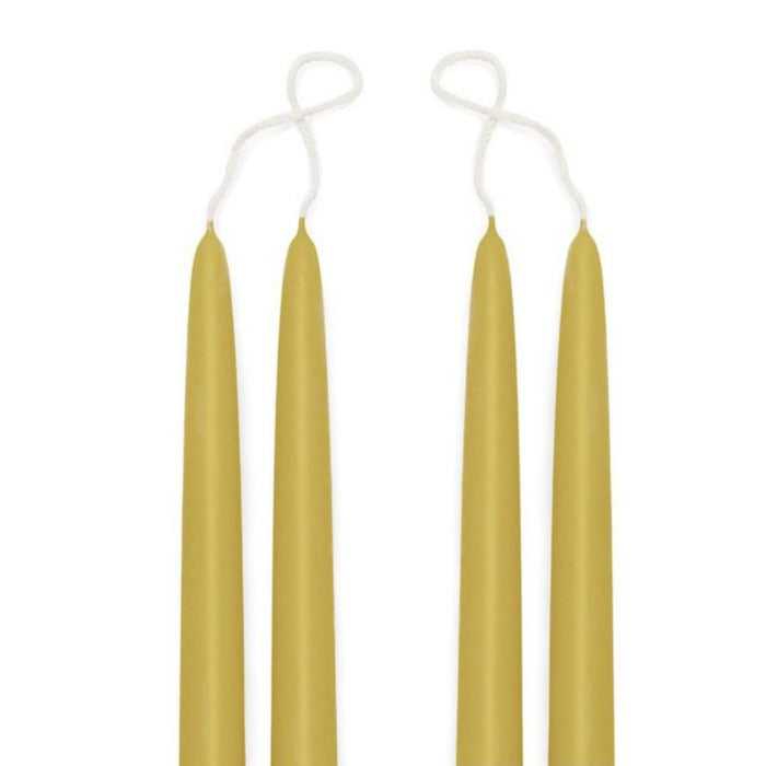 Premium Beeswax Blended Taper Candles - Two Pair Bundle - 15 Inches