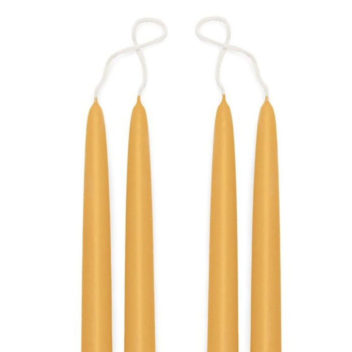 Premium Beeswax Blended Taper Candles - Two Pair Bundle - 18 Inches