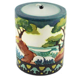 Medium Inlay Pillar Candle - Candlestock.com