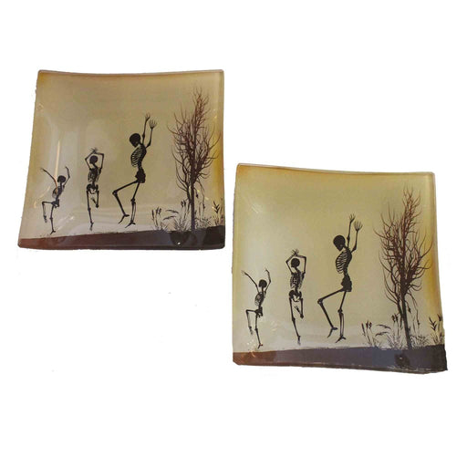 Dancing Skeletons Candle Tray - Candlestock.com