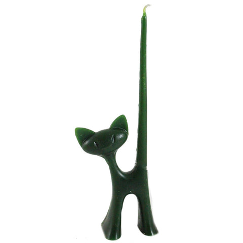 Colorful Taper Tail Cat Candle - Candlestock.com