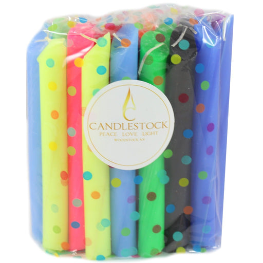 Assorted Colors Drip Candles 25 Pack - Candlestock.com