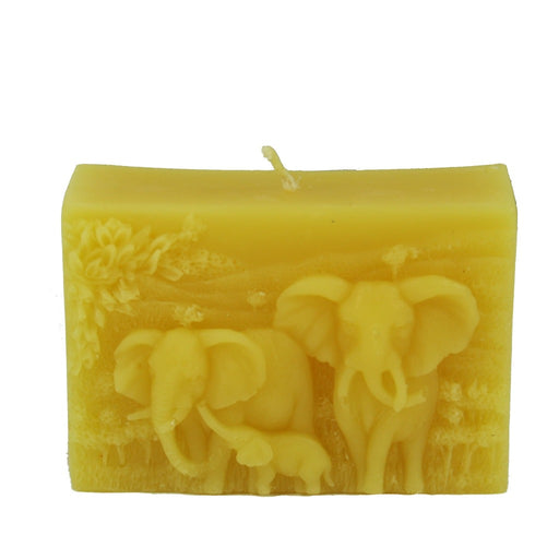 Beeswax Elephant Relief Candle