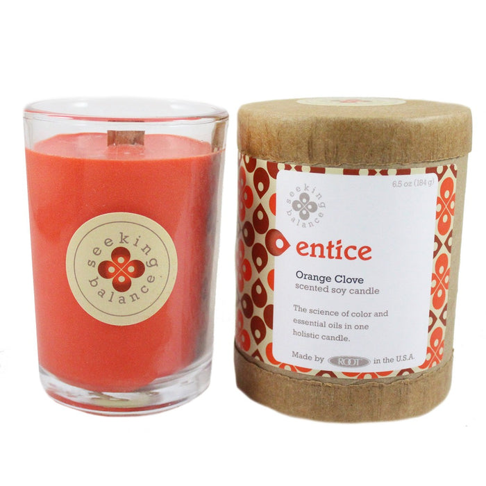 Root Seeking Balance Soy Wax Scented Jar Candle - Candlestock.com