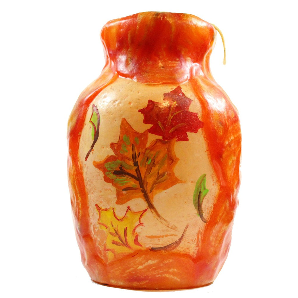 Painted Vase - Fall Leaves Double Painting - Candlestock.com