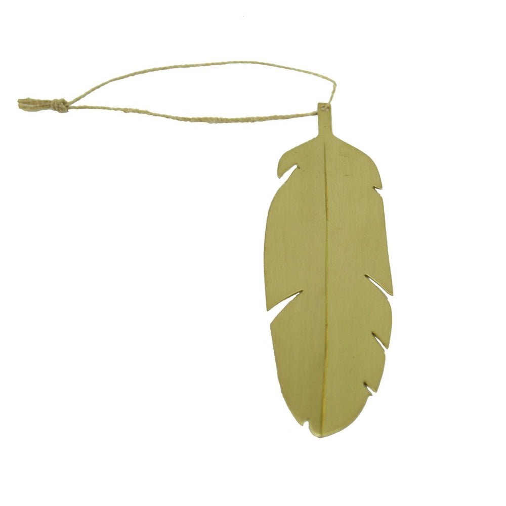 Brass Feather Ornament