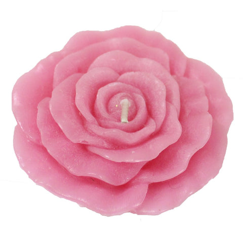Flat Rose Floating Candle - Candlestock.com