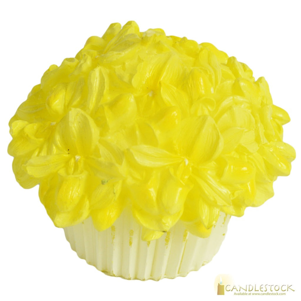 Flower Cupcake Candle In Multiple Colors