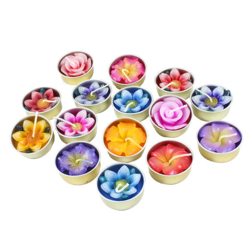Flower Tea Light Candle - Candlestock.com