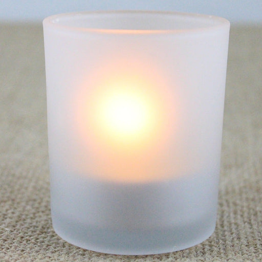 Frosted Glass Votive Candle Cup - Candlestock.com