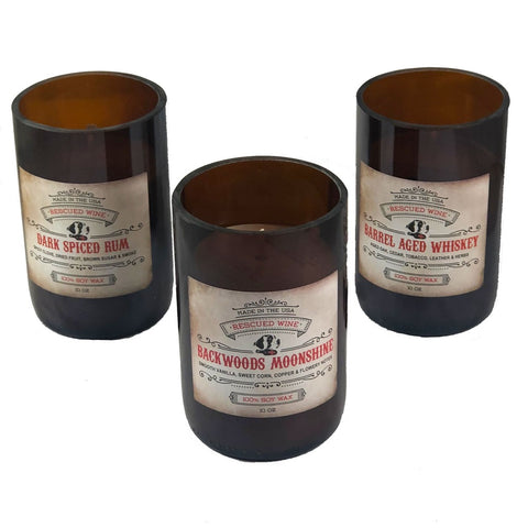 Rescued Wine Sprit Scented Jar Candles