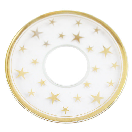 Bobeche Clear Glass With Gold Stars - Candlestock.com