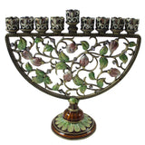 Metal Vine And Flower Vintage Menorah - Candlestock.com