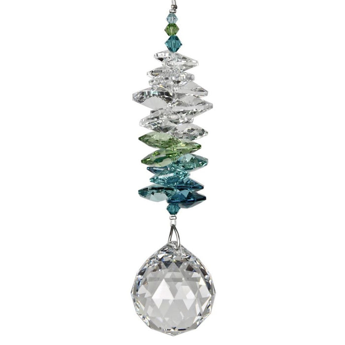 Green Crystal Grand Cascade Suncatcher