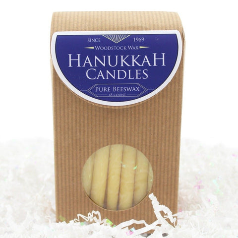 Beeswax Hanukkah Candle Pack - 45 Count - Candlestock.com