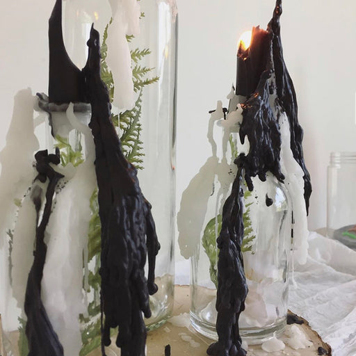 Black Drip Candle