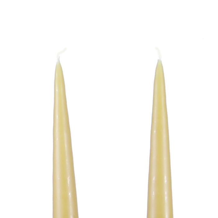 Traditional Danish Style Pointed Taper Candles - 17 Inch