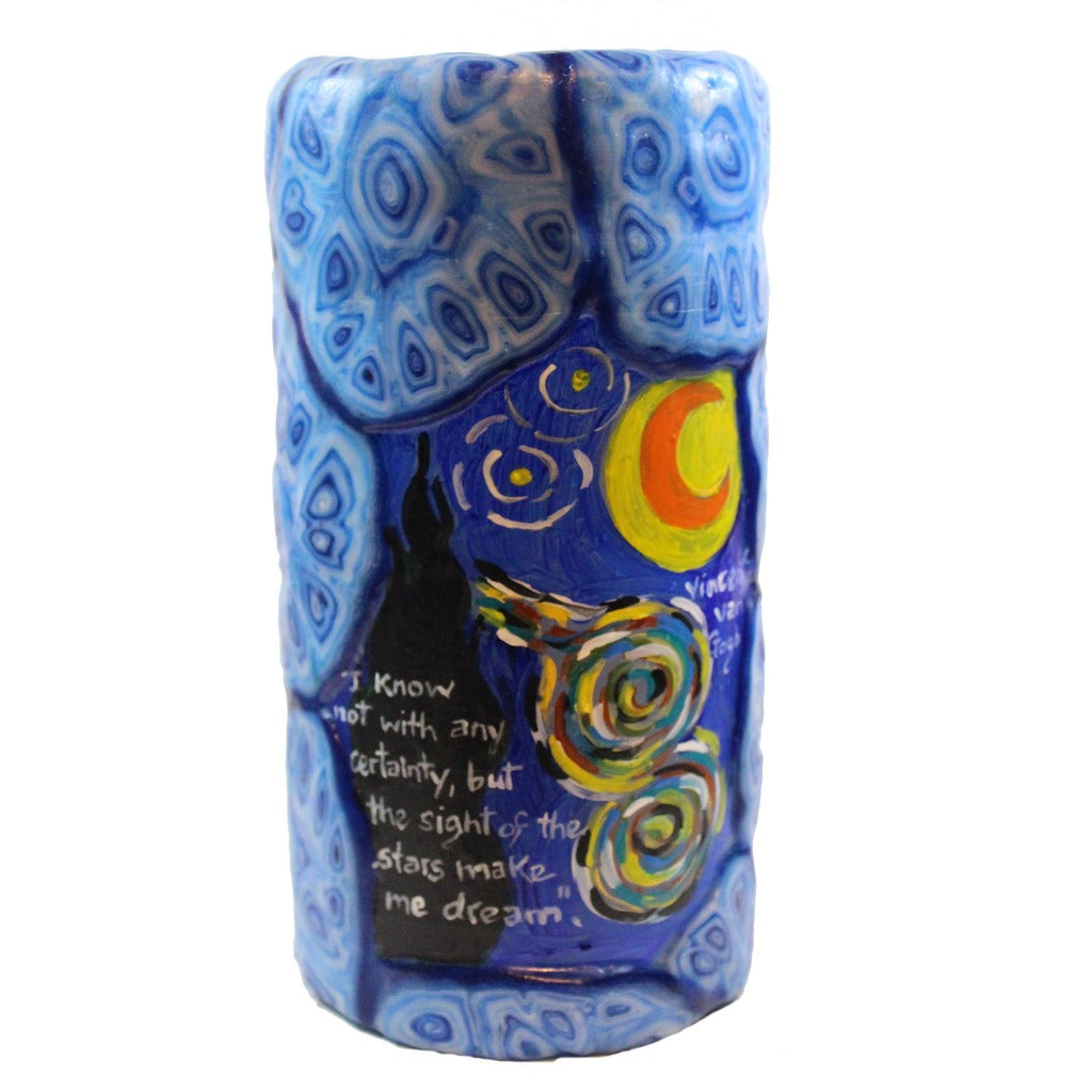 Double Quote Pillar Candle - Vincent Van Gogh - Candlestock.com