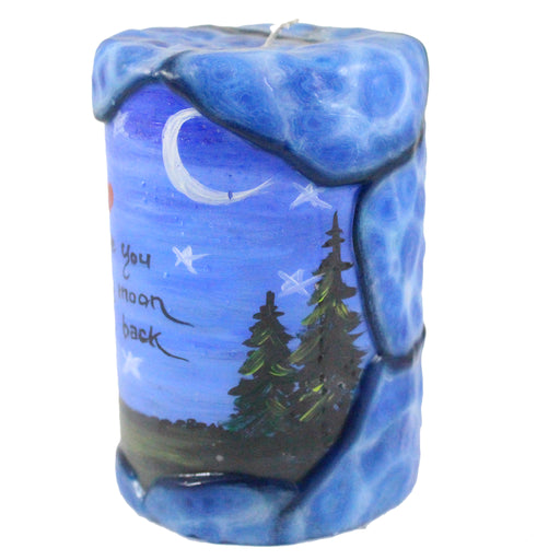 "Quote Pillar Candle ""I Love You To The Moon And Back"" - 4 X 6 - Candlestock.com"