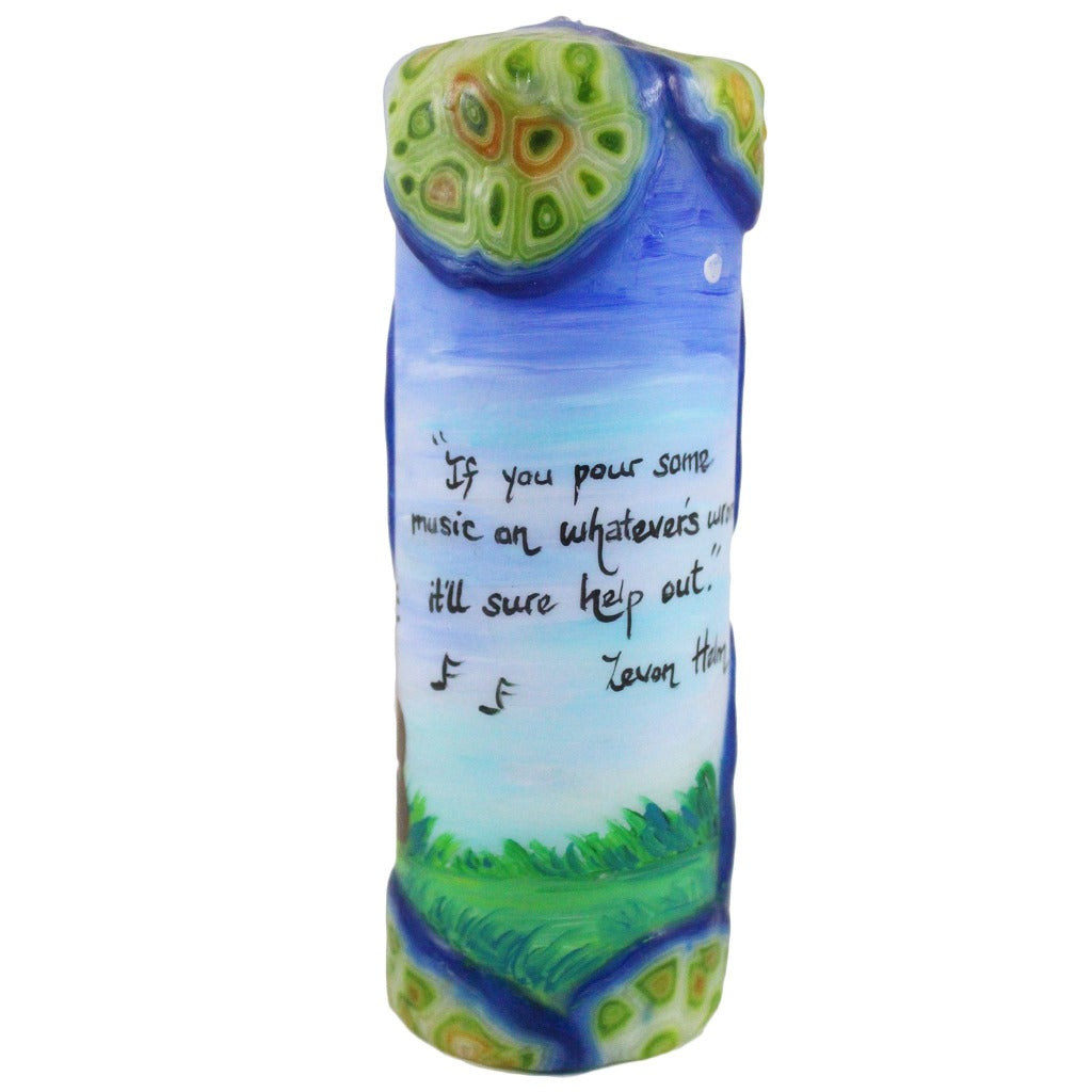 Quote Pillar Candle