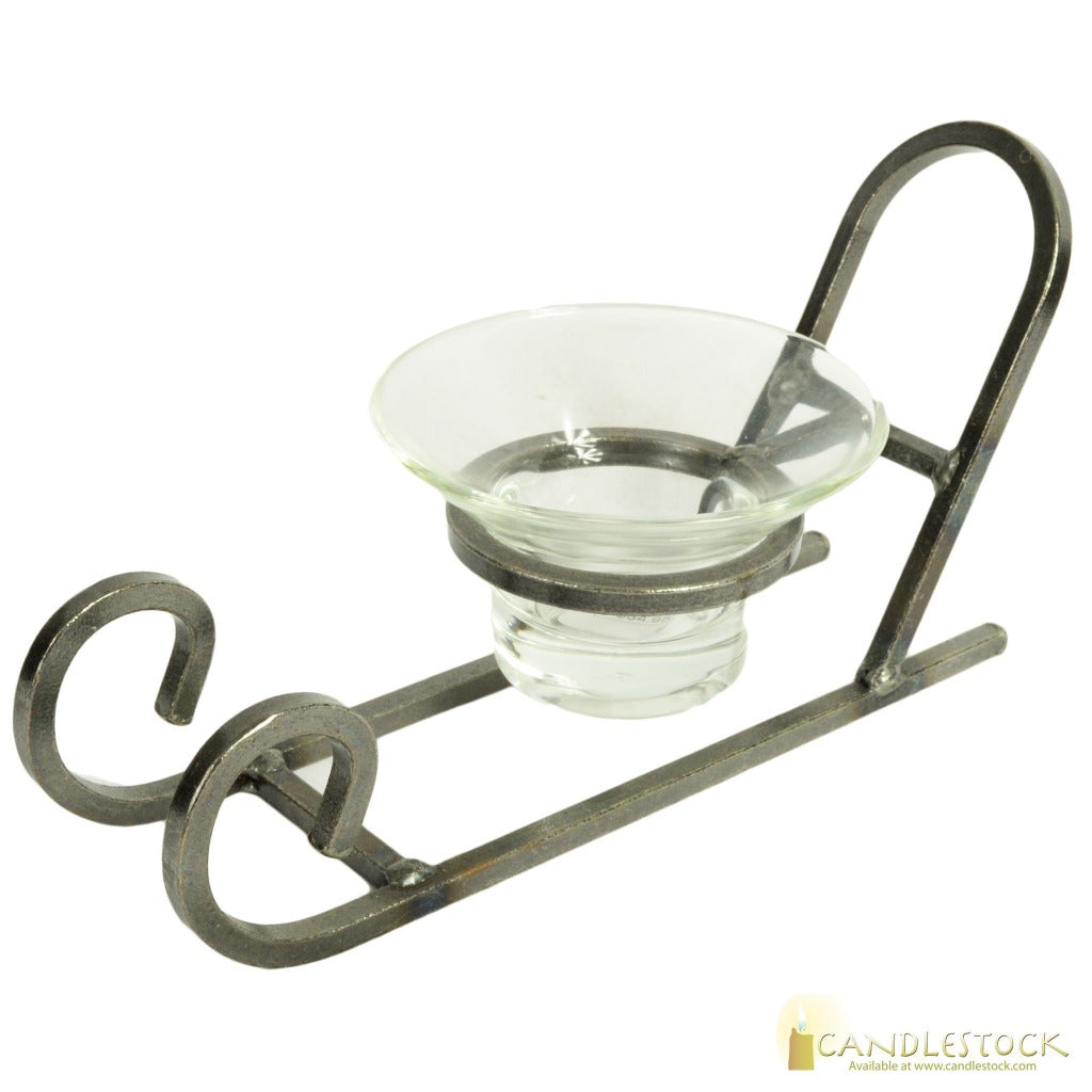 Iron Sleigh Ball Candle Holder - 4in