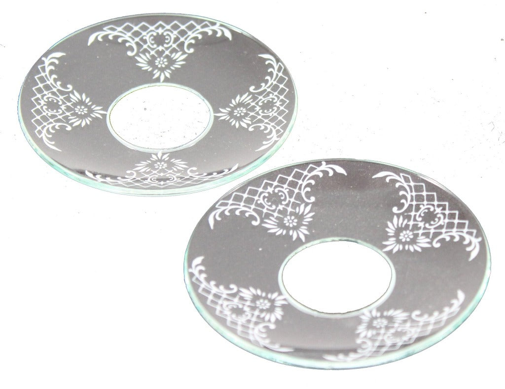 Bobeche Clear Glass with Lace Detailing - Candlestock.com
