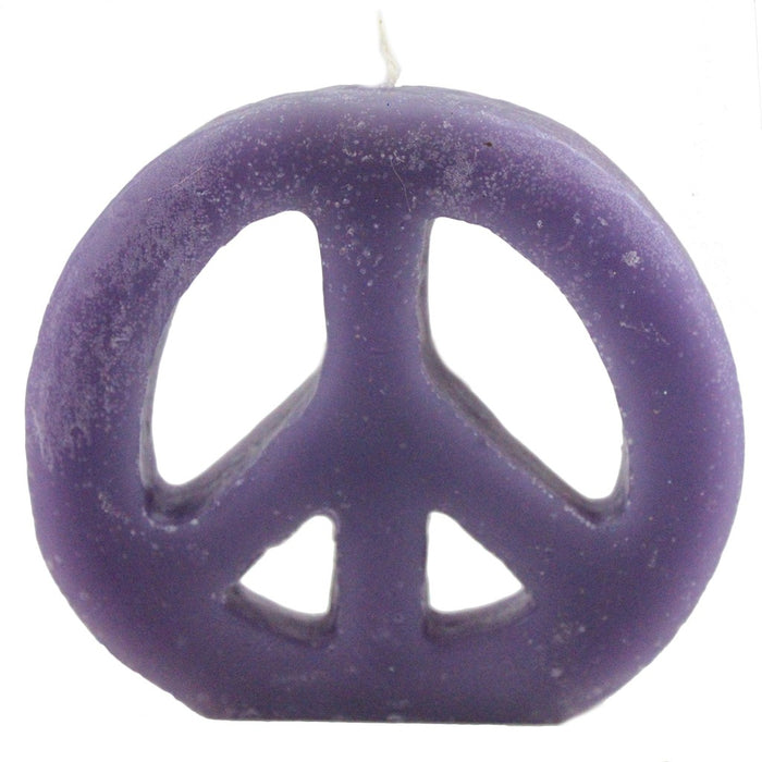 Peace sign candles in bulk hand poured in Woodstock, NY.